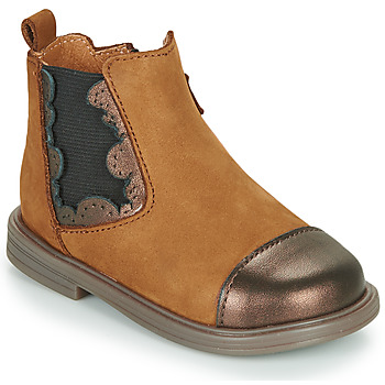 Shoes Girl Mid boots Little Mary ELVIRE Brown