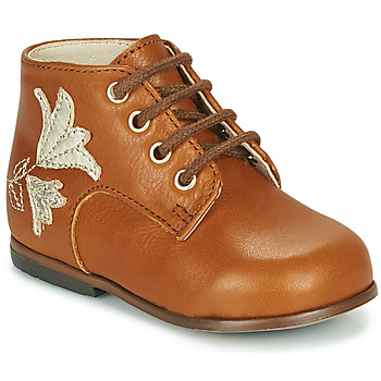 Shoes Girl High top trainers Little Mary MEIGE Brown