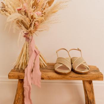 Shoes Women Sandals Céleste ORANGER Gold