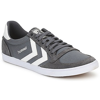 Shoes Men Low top trainers Hummel TEN STAR LOW CANVAS Grey / White