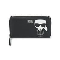 Bags Women Wallets Karl Lagerfeld K/IKONIK CONTINENTAL ZIP AROUND Black