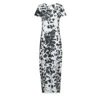 material Women Long Dresses Yurban OVIZ Grey / White