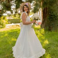 material Women Long Dresses Céleste AURORE White