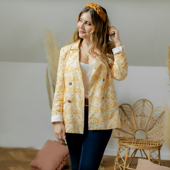 material Women Jackets / Blazers Céleste ALIZE Yellow / White