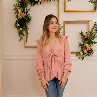 material Women Blouses Céleste ROSSIGNOL Pink