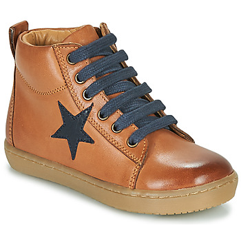 Shoes Boy High top trainers GBB KANY Brown