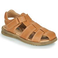 Shoes Boy Sandals Citrouille et Compagnie MELTOUNE Brown
