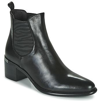 Shoes Women Ankle boots Adige DIVA V1 VEAU GARNET NOIR Black