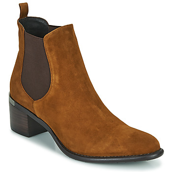 Shoes Women Ankle boots Adige DIVA V4 CHEV VEL TABACO Brown
