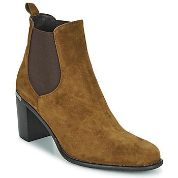 Shoes Women Ankle boots Adige FANNY V1 CHEV VEL NOIX Brown