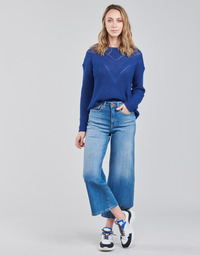 material Women cropped trousers Only ONLMADISON Blue / Medium