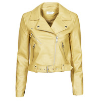 material Women Leather jackets / Imitation le Only ONLVALERIE Yellow