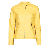 material Women Leather jackets / Imitation le Only ONLMELISA Yellow
