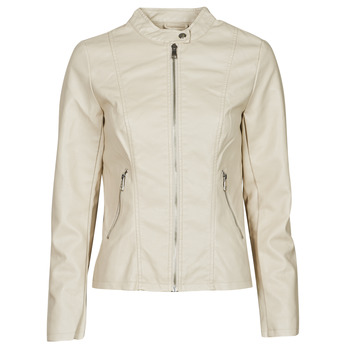 material Women Leather jackets / Imitation le Only ONLMELISA Beige