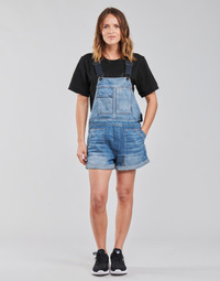 material Women Jumpsuits / Dungarees G-Star Raw UTILITY BF SHORT OVERALL WMN Blue