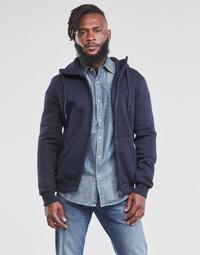 material Men sweaters G-Star Raw PREMIUM BASIC HOODED ZIP SWEATER Marine