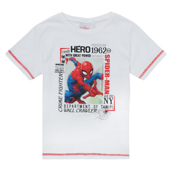 material Boy short-sleeved t-shirts TEAM HEROES  SPIDERMAN TEE White
