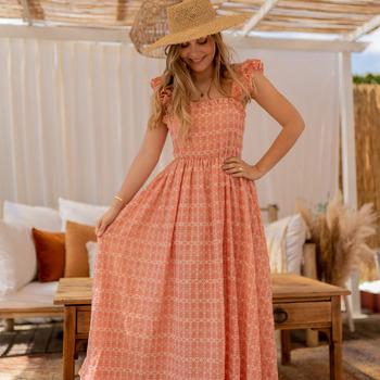 material Women Long Dresses Céleste AURORE Pink