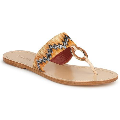 Shoes Women Flip flops Missoni VM048 Orange
