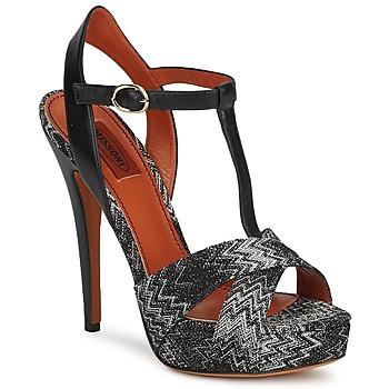 Shoes Women Sandals Missoni VM034 Black / White