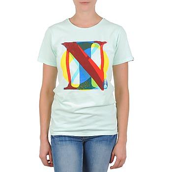 material Women short-sleeved t-shirts Nixon PACIFIC Green