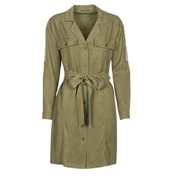 material Women Short Dresses Ikks BS30055 Kaki