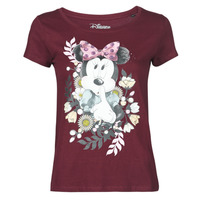 material Women short-sleeved t-shirts Yurban OHJAVE Bordeaux