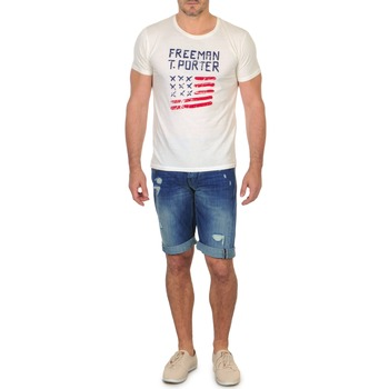 material Men Shorts / Bermudas Freeman T.Porter DADECI SHORT DENIM Blue