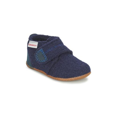 Shoes Boy Slippers Giesswein OBERSTAUFEN Blue