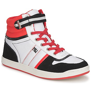 Shoes Women High top trainers Dorotennis STREET LACETS Red / White / Black
