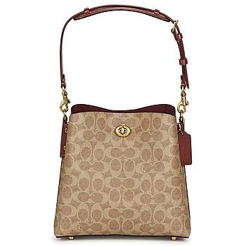 Bags Women Shoulder bags Coach WILLOW BUCKET BAG 21 Cognac
