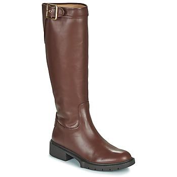 Shoes Women Boots Coach LEIGH Cognac