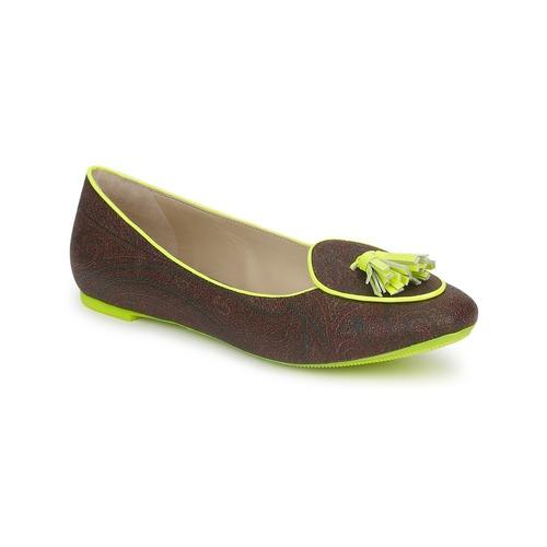 Shoes Women Ballerinas Etro BALLERINE 3738 Brown / Citron