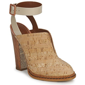 Shoes Women Clogs John Galliano AN9211 Beige