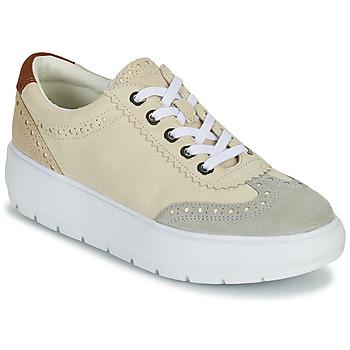 Shoes Women Low top trainers Geox KAULA Grey