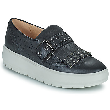Shoes Women Low top trainers Geox KAULA Black