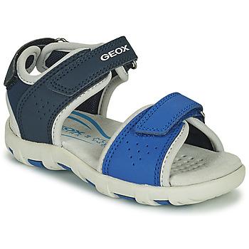 Shoes Boy Sandals Geox SANDAL PIANETA Blue
