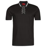 material Men short-sleeved polo shirts HUGO DOLMAR Black / White