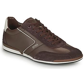 Shoes Men Low top trainers BOSS Saturn_Lowp_ltal Brown