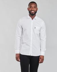 material Men long-sleeved shirts BOSS MAGNETON White