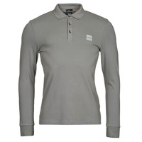 material Men long-sleeved polo shirts BOSS PASSERBY Grey