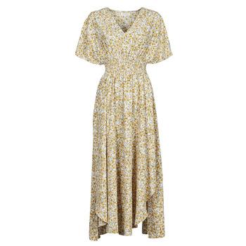 material Women Long Dresses Betty London ONINA Yellow / White
