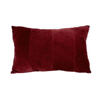 Home Cushions Present Time RIBBED Bordeaux