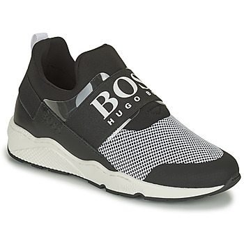 Shoes Boy Low top trainers BOSS NATINA Black / White