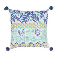 Home Cushions Jardin d'Ulysse BOH-FLEUR Blue