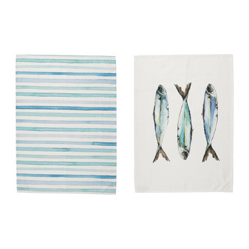 Home Tea towel Côté Table RIVIERE White