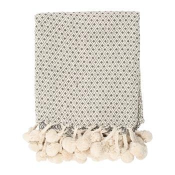 Home Blankets, throws Sema LOUISA Grey / Clear