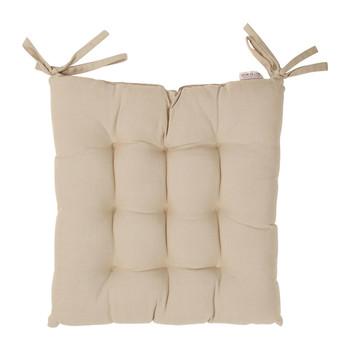 Home Chair cushion Comptoir de famille CHAMBRAY Beige