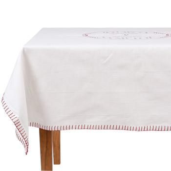 Home Tablecloth Comptoir de famille NAPPE CARRÉE White