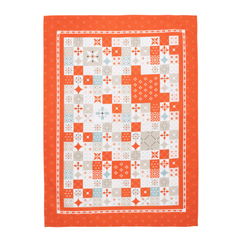 Home Tea towel Comptoir de famille CIMENT Orange